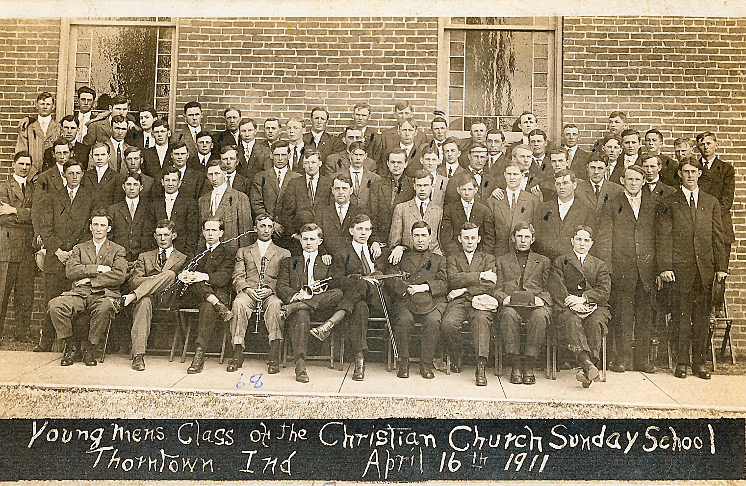 Thorntown Christian Church Young Men, 1911