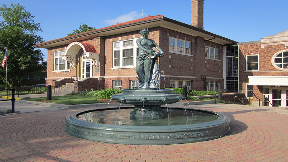 Library and Fountain